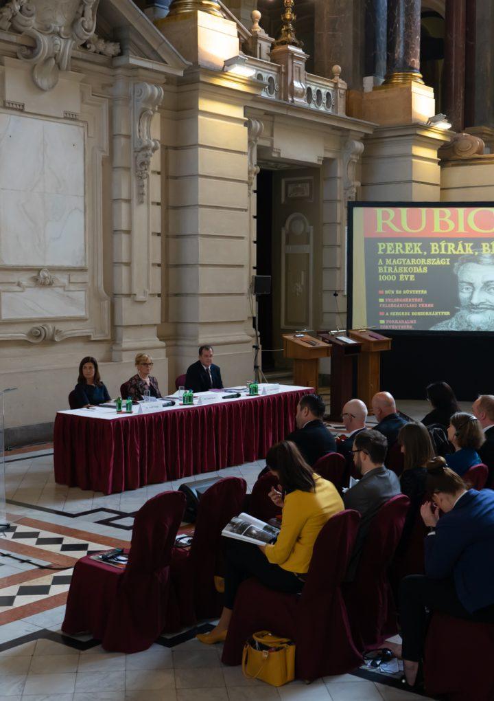 Nemzetközi konferencia és könyvünnep a Bíróságtörténeti Héten Budapesten